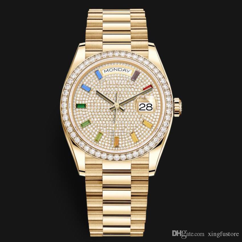 Calendário Diamante Duplo Masculino Relógio impermeável Relógios de luxo de quartzo relógio de pulso de aço inoxidável frescos Men Watch bonito presente masculino