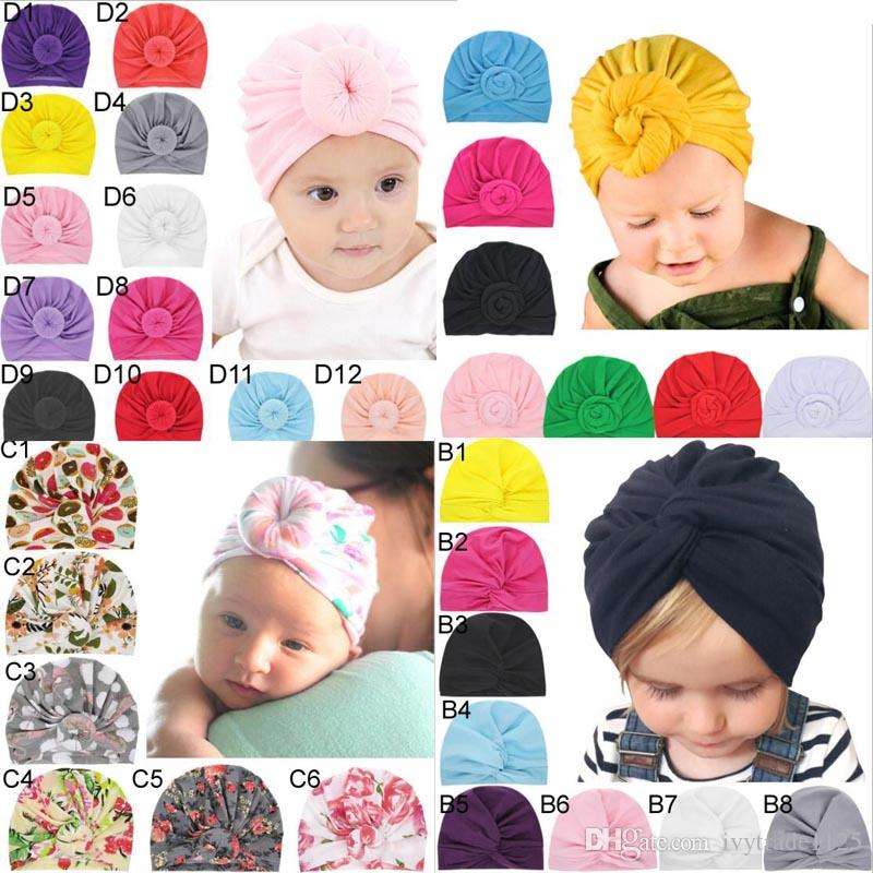 Candy Colors Baby Rabbit headbands Flowers Print kids Hair accessories fashion lovely bow kids babyhairband