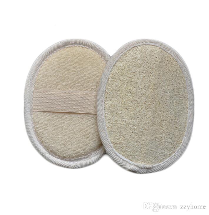 9x12cm natural Loofah Luffa Exfoliante cojín del depurador de quitar la piel muerta Spa Masaje Esponja Esponja de baño
