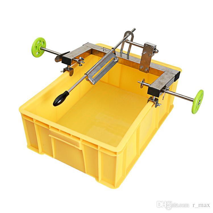 Yüksek kalite el kitabı ticari kullanım ananas stokta makinesi SS304 ananas soyucu manuel ananas göz sökücü bıçak araçları soyma