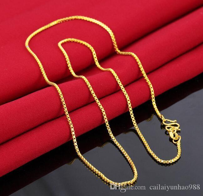 14k 옐로우 골드 도금 황동 금도금 체인 쇄골 체인 체인 이탈리아어 상자 베어 체인