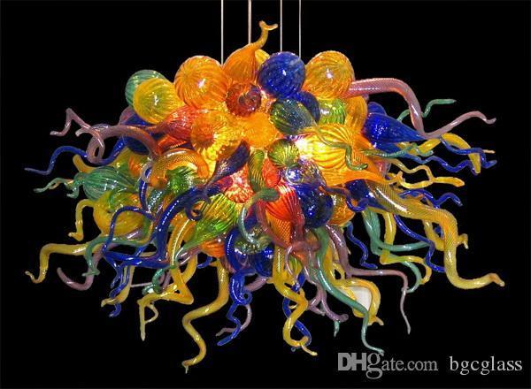Красочные стеклянные подвесные светодиодные подвесные светильники современный арт-декор Италия разработанный стиль рука выдувное Чихули муранского стекла люстра для домашнего декора