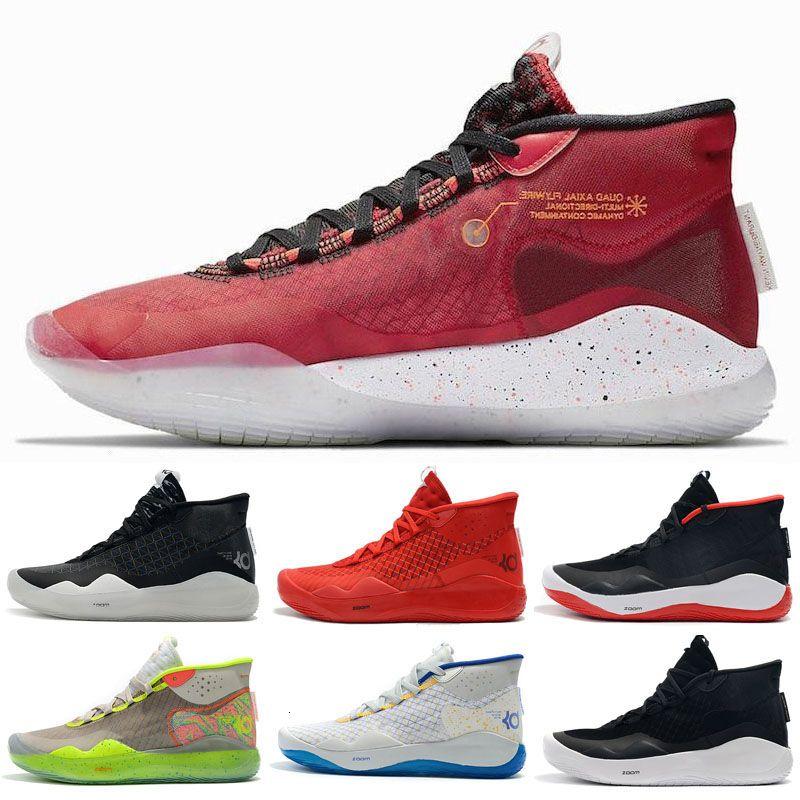 2019 Nova Kevin Durant Xii Kd 12 sapatos casuais para homens Top de Qualidade Triplo Preto 12s vermelhos Designer Casual Shoes Tamanho 7-12