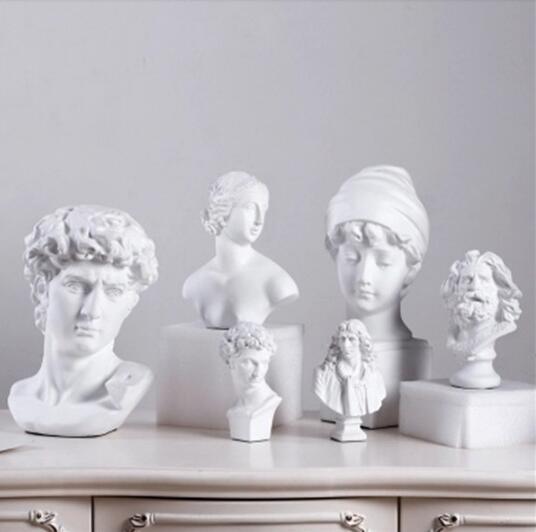 status de resina decoração escultura casa esculpida figura David / venus Negócios Estudo presente quarto bookend bookk decoração parada mesa