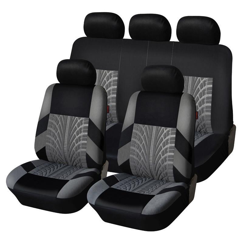 التطريز مقعد السيارة يغطي مجموعة عالمية تناسب معظم سيارات يغطي مع الإطارات تتبع التفاصيل التصميم السيارات الداخلية الديكور سيارة مقعد حامي مقعد السيارة