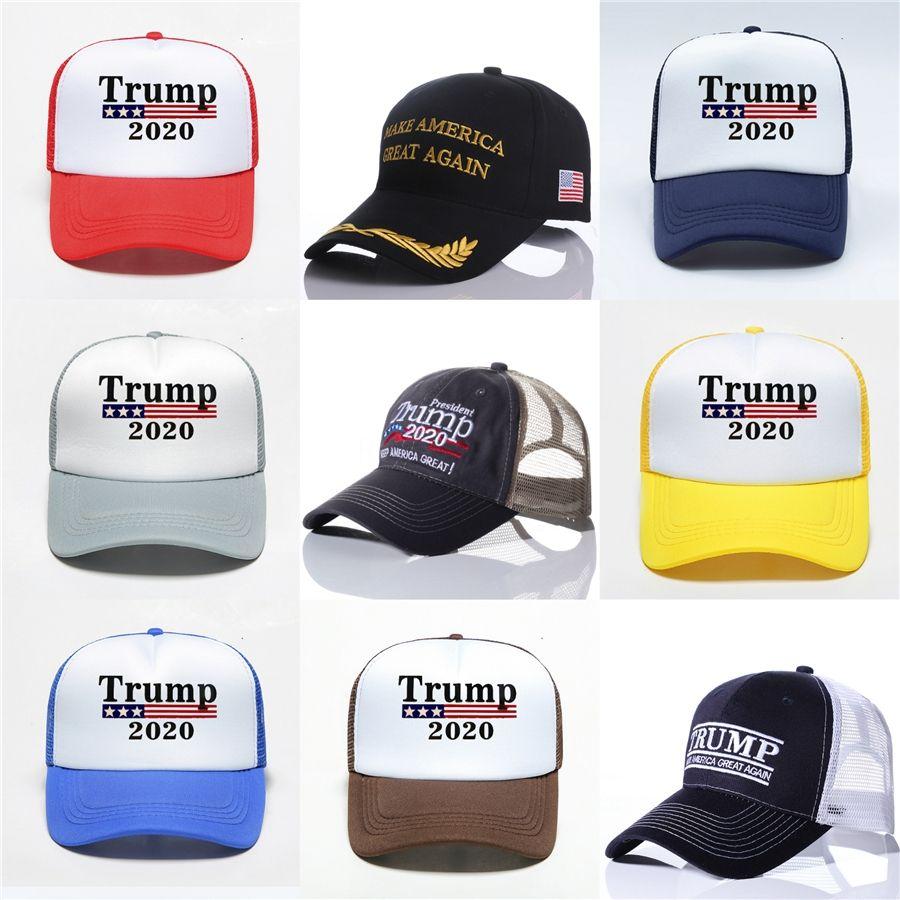 Bordado Trump 2020: Nuestra Salud, Gran Una vez más, Donald Trump gorras de béisbol las gorras de béisbol del sombrero Adultos Deportes envío libre # 817