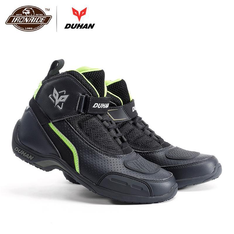 DUHAN Männer Motorrad-Boots-Motorrad-Schuh-Breathable Motocross Stiefel Reit Off-Road Racing Moto 3 Farbe für den Sommer