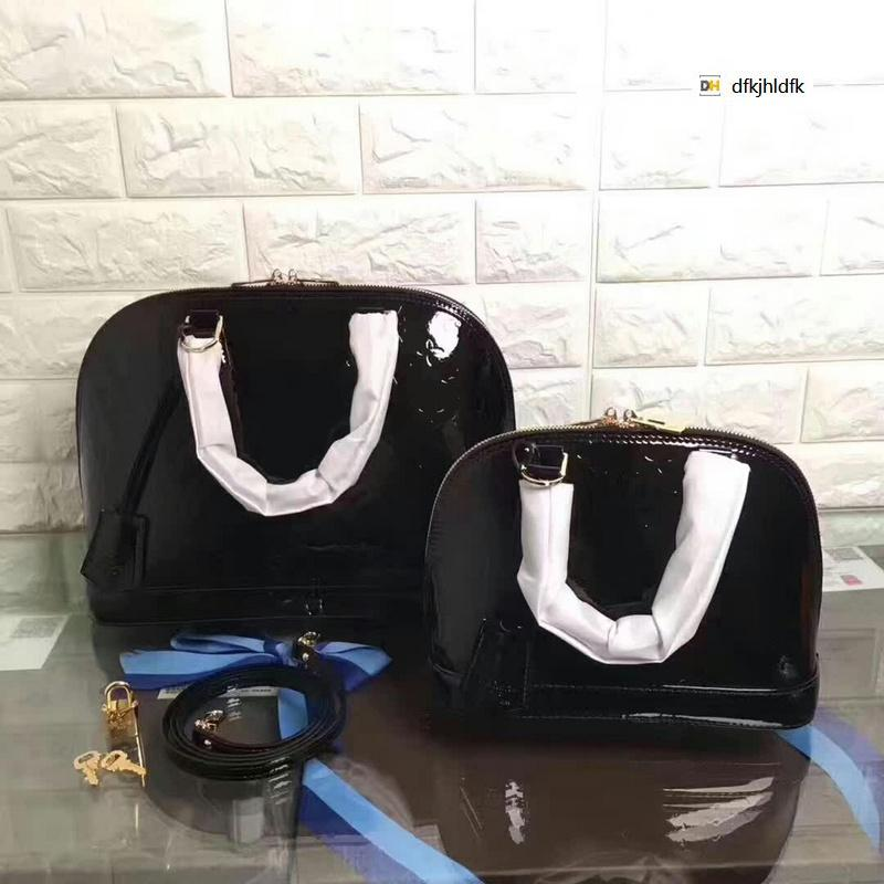 M9999 Black Patent Leather Crossbody Bag WOMEN HANDBAGS ICONIC BAGS TOP HANDLES SHOULDER BAGS TOTES CROSS BODY BAG CLUTCHES EVENING
