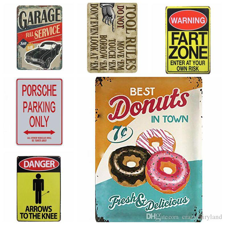 Metal Signs Beer Vintage Motorcylce Wall Poster Cars Food Cocktail Motor Plaque Wall Art Painting Antique Retro Pub Bar Garage Home Decor
