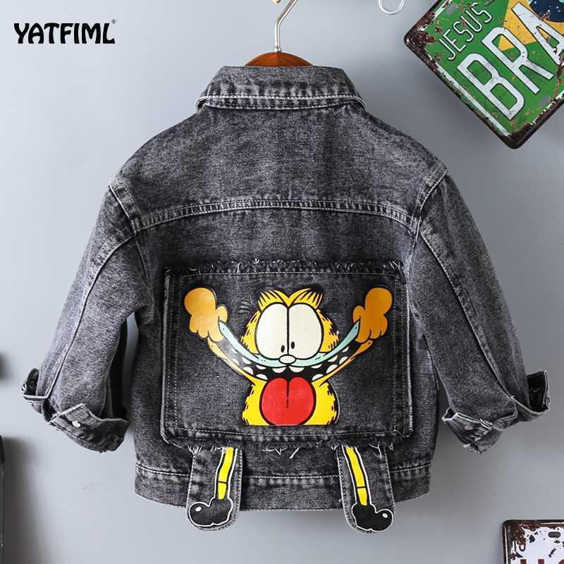 YATFIML los bebés del dril de algodón capa de la chaqueta de otoño de dibujos animados para los niños chaquetas de abrigo abrigos para Niños Ropa Niños chaqueta de la ropa