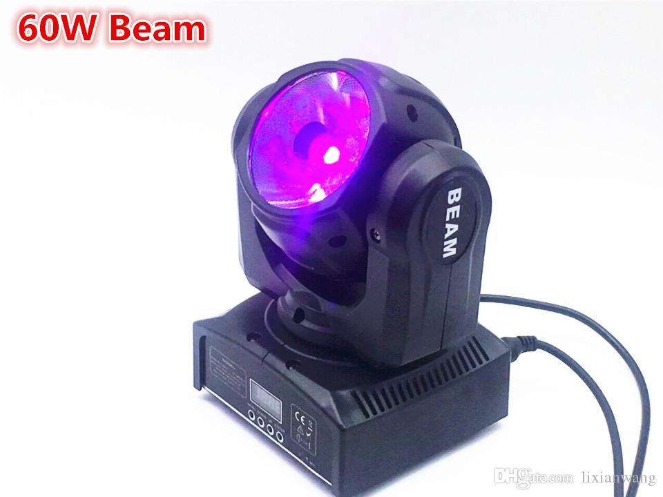 قاد 20X مصغرة رئيس الحركة 60W RGBW شعاع 4IN1 نقل رئيس ضوء شعاع يتحرك رئيس ضوء السوبر مشرق LED DJ الضوء تغسل تحكم DMX
