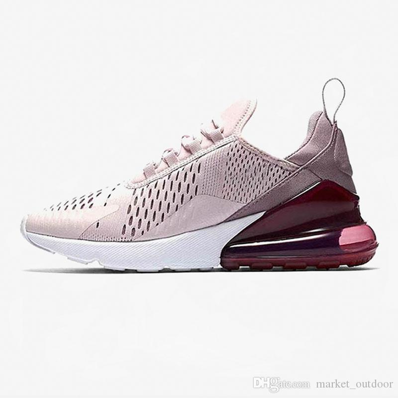 2019 NikeAirMax270 Cushion Running Shoes For Men Woman Tripler White Black Medium Olive Volt Orange South Beach Off Sport Sneakers From