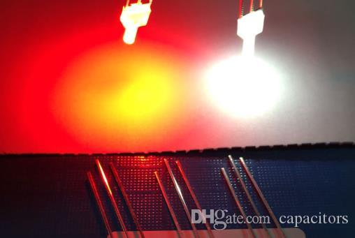 red//warm white or red//yellow Bicolor LED 2mm 3mm or 5mm  color red//white