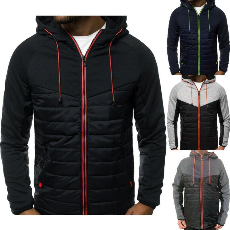 Mens Windproof Sport Waterproof Jacket Raincoat Winter Thick Warm Fleece Hooded Coat Tracksuit Clothing