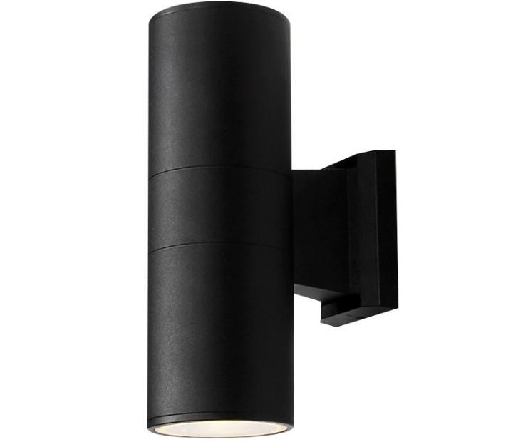 Black or Stainless Steel Single Outdoor Wall Light IP65 Garden Wall Light