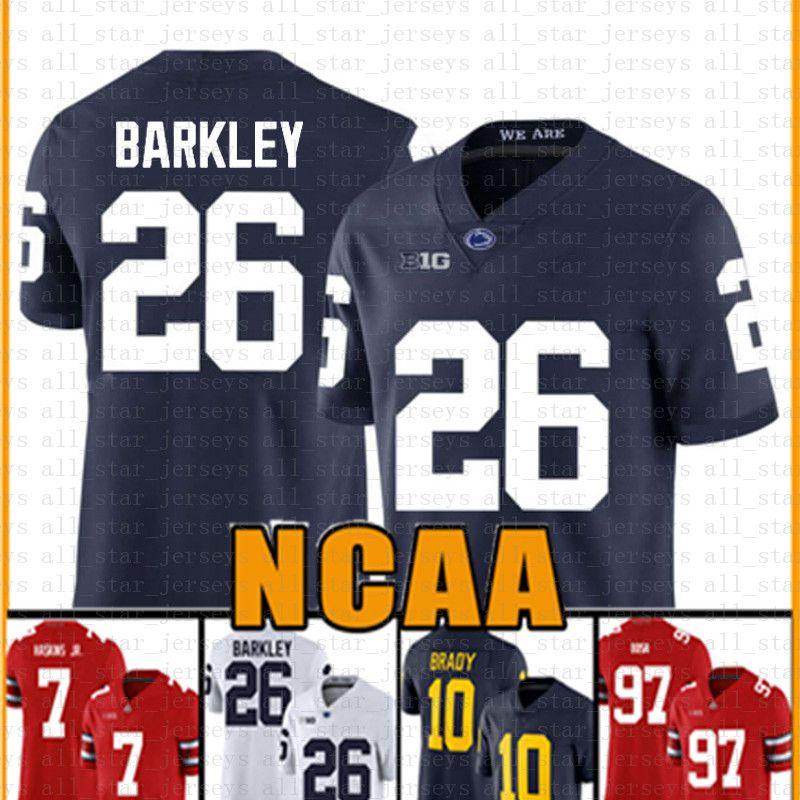 Penn State Nittany Lion 26 Saquon Barkley American Football Jersey 10 Tom Brady 97 Nick Bosa Trikots für Männer