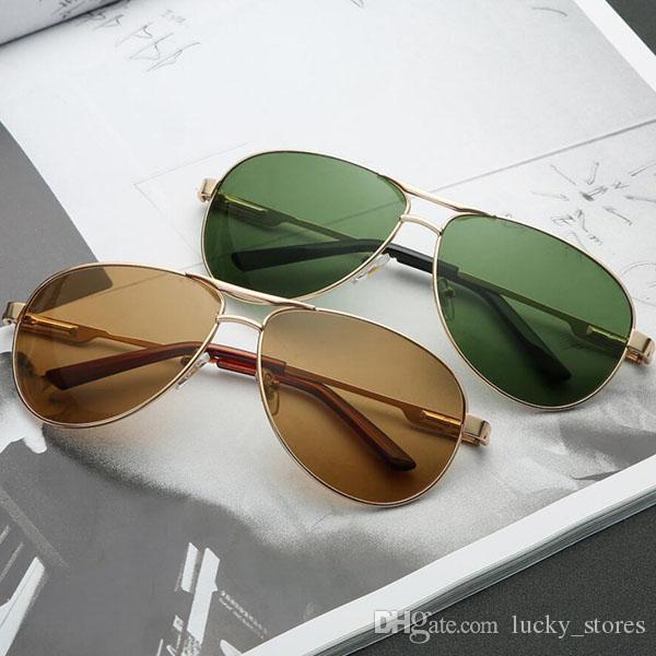 Moda Gafas de sol Hombres Mujeres Diseñador UV400 Brand Gunewear Gunmetal Mark Brown Green Black Sun Gafas de sol con estuche