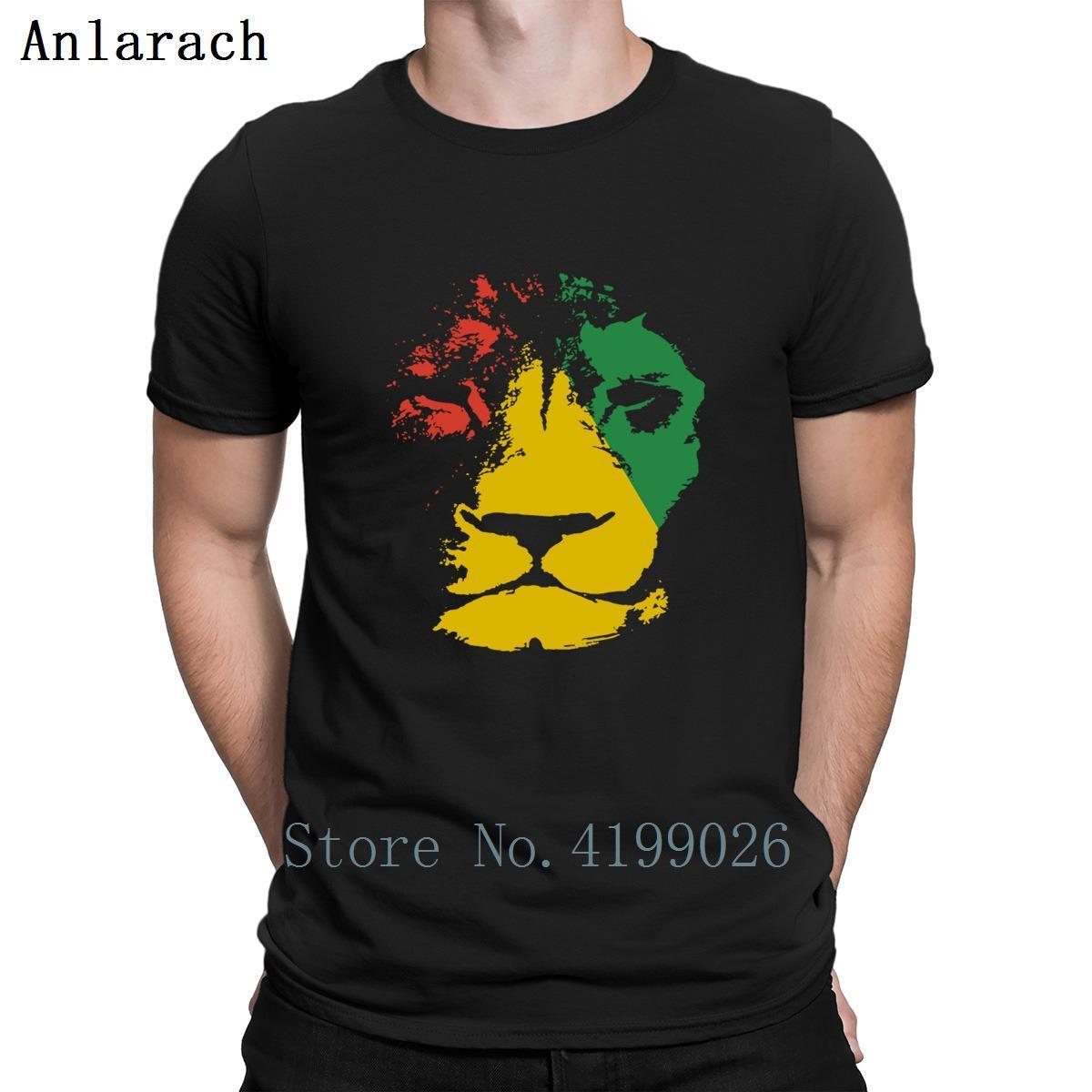 Abbigliamento Stampato T Shirt T-shirt giamaicano Musica Giamaica Lion Mens Reggae per gli uomini il formato S-3XL del modello Slim Fit Estate