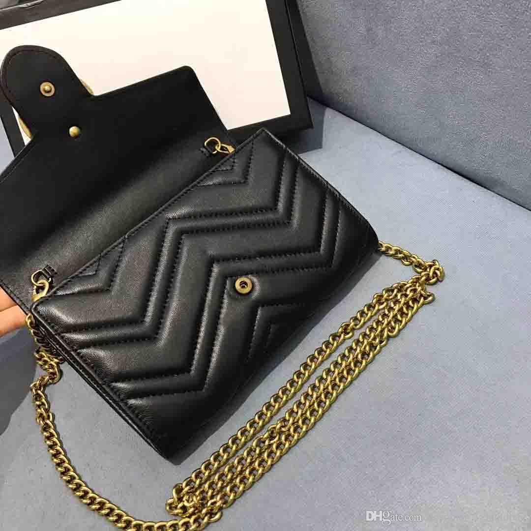 مصمم الكلاسيكية أزياء السيدات حقيبة المعادن سلسلة الكتف قطري رفرف الجلود مطرز موضوع حقيبة