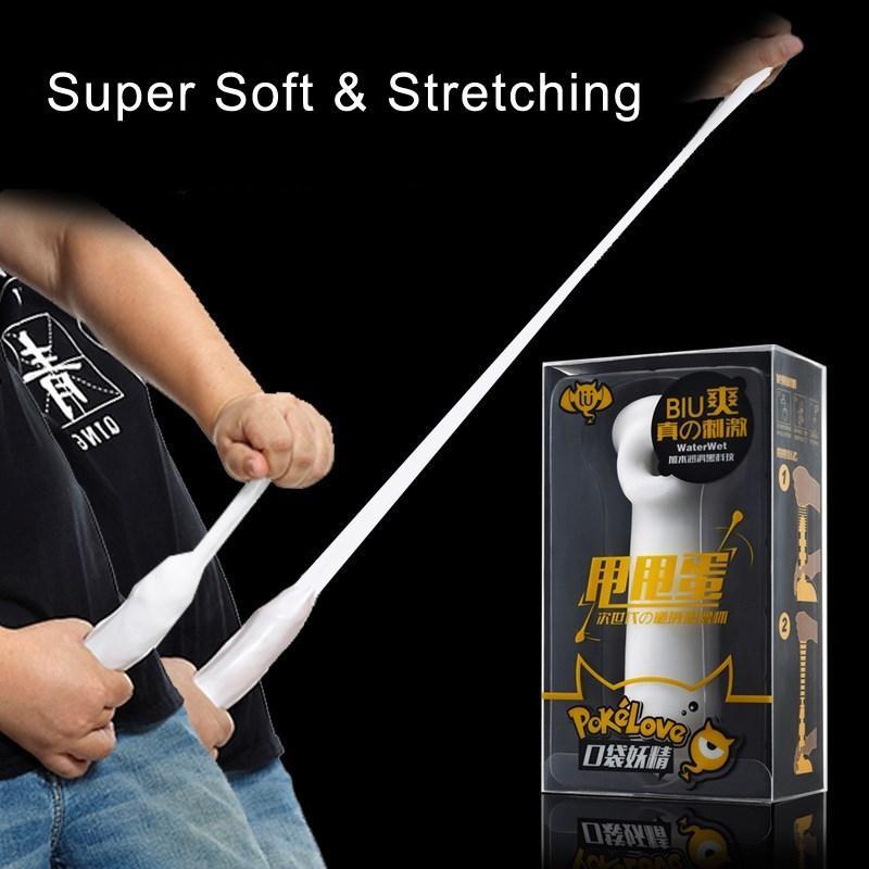 Super Silicone Vagin Masturbateur pour Homme élastique long Diapo pénis manches peau douce Feel Pussy pénis pour les hommes de massage Sex Toy Y200417