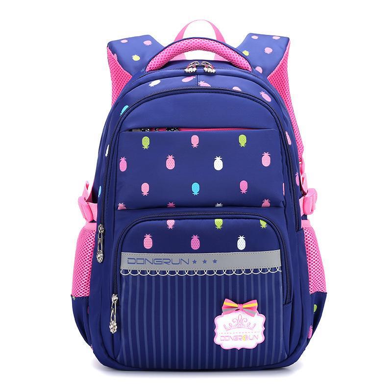 2019 Niños School Bag Girls Kids Satchel Escuela Primaria Mochila Princesa Ortopedia Mochila Mochila Niños Mochila Infantil J190522