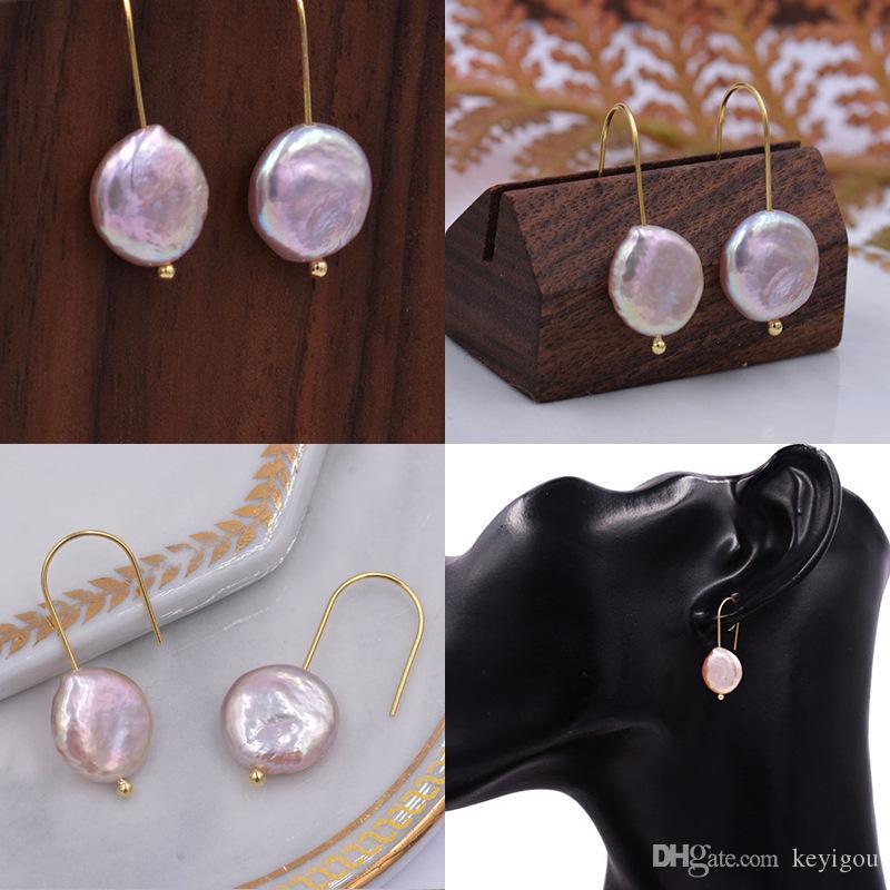Orecchini coreani di design coreano Orecchini di perle d'acqua dolce naturali barocche Orecchini pendenti a temperamento lungo Orecchini per donne Ragazze
