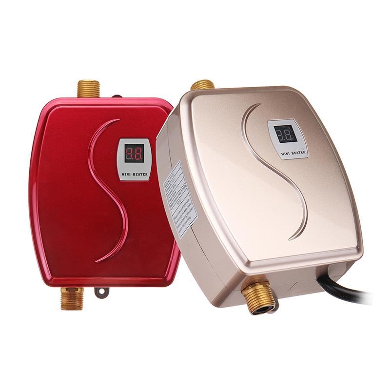 XY-FGGE, 3800W Banheiro Cozinha Instant Elétrica Aquecedor de Água Quente Torneira Torneira LCD Torneira Torneira Tankles