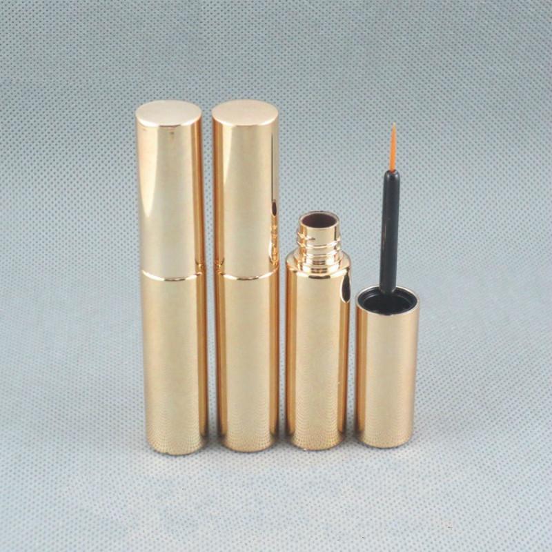Strumenti di plastica di trucco oro grado superiore Eyeliner Colla imballaggio della bottiglia 8ML professionali rotonda Oro elegante Eyeliner tubo 50pcs / lot