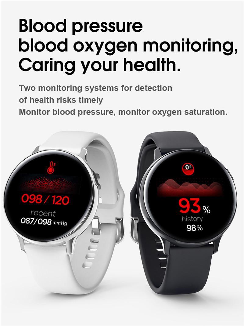 S20 EKG Akıllı İzle Erkekler Kadınlar Tam Dokunmatik Ekran IP68 Su geçirmez Nabız Tansiyon Smartwatch