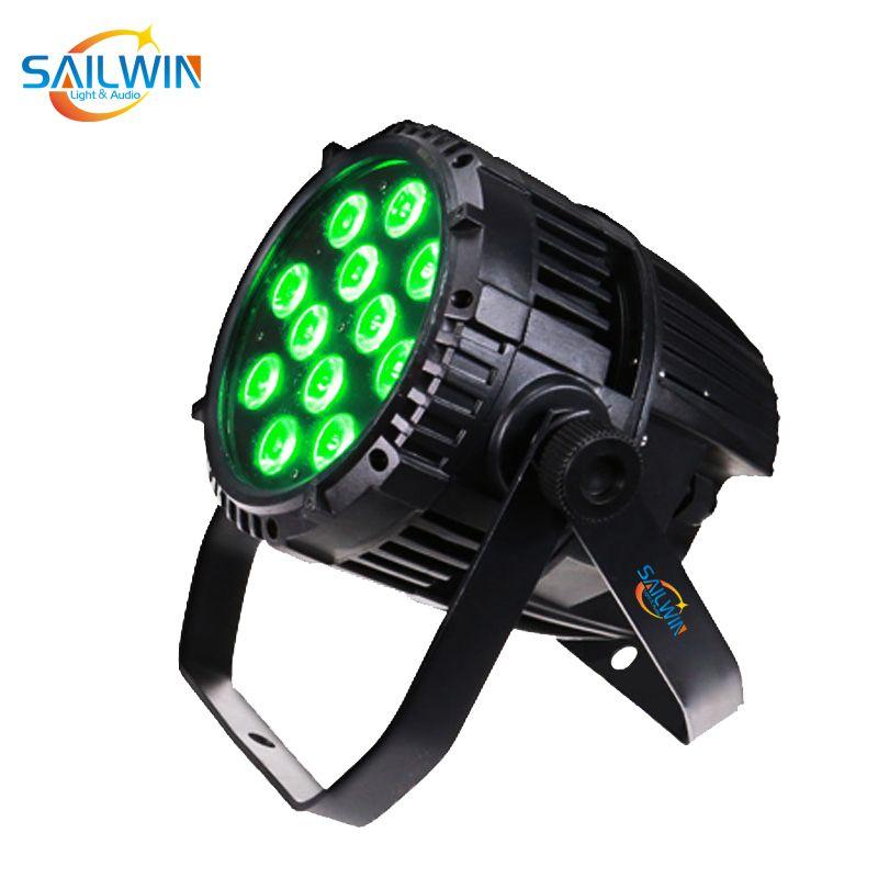 De alta qualidade barato 12x18W 6in1 RGBAW + UV impermeável ao ar livre LED Stage Par Luz DJ Projector LED Light