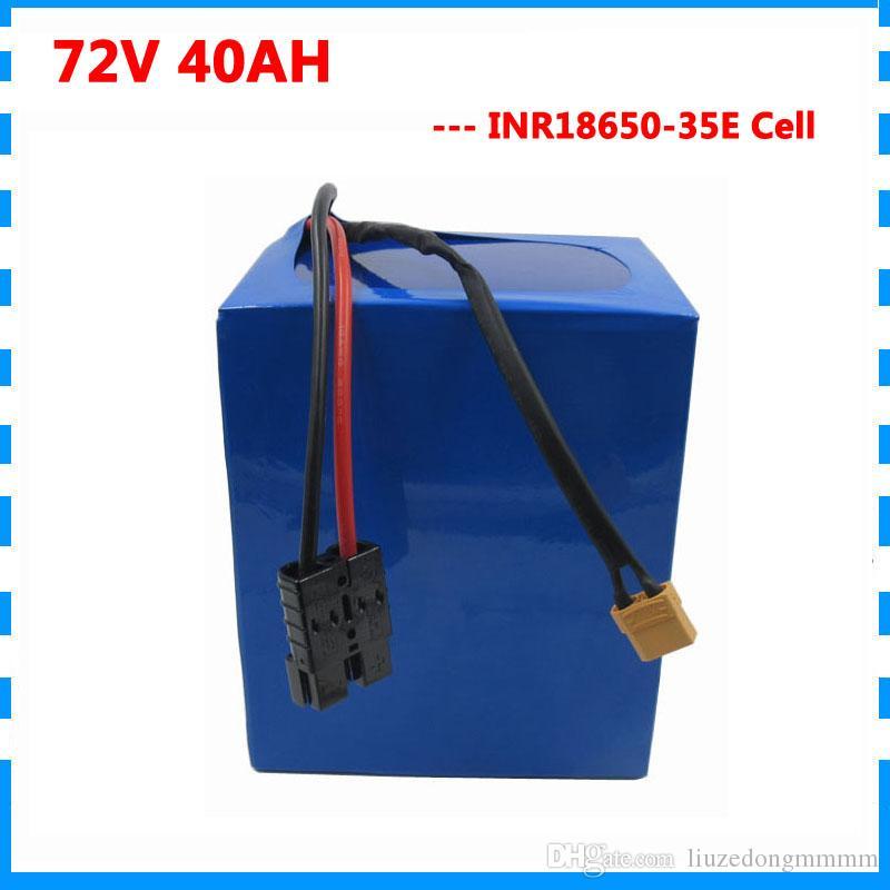 3000W 72V 40AH pacco batteria al litio 72Volt ebike triciclo e-motociclo batteria Uso per Samsung 35E cellulare con BMS e 4A caricatore
