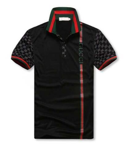 9baa285f ... Gucci Men's Hoodies short sleeves polo shirt 8958 T-shirt Embroidery  Polo Shirt For Men
