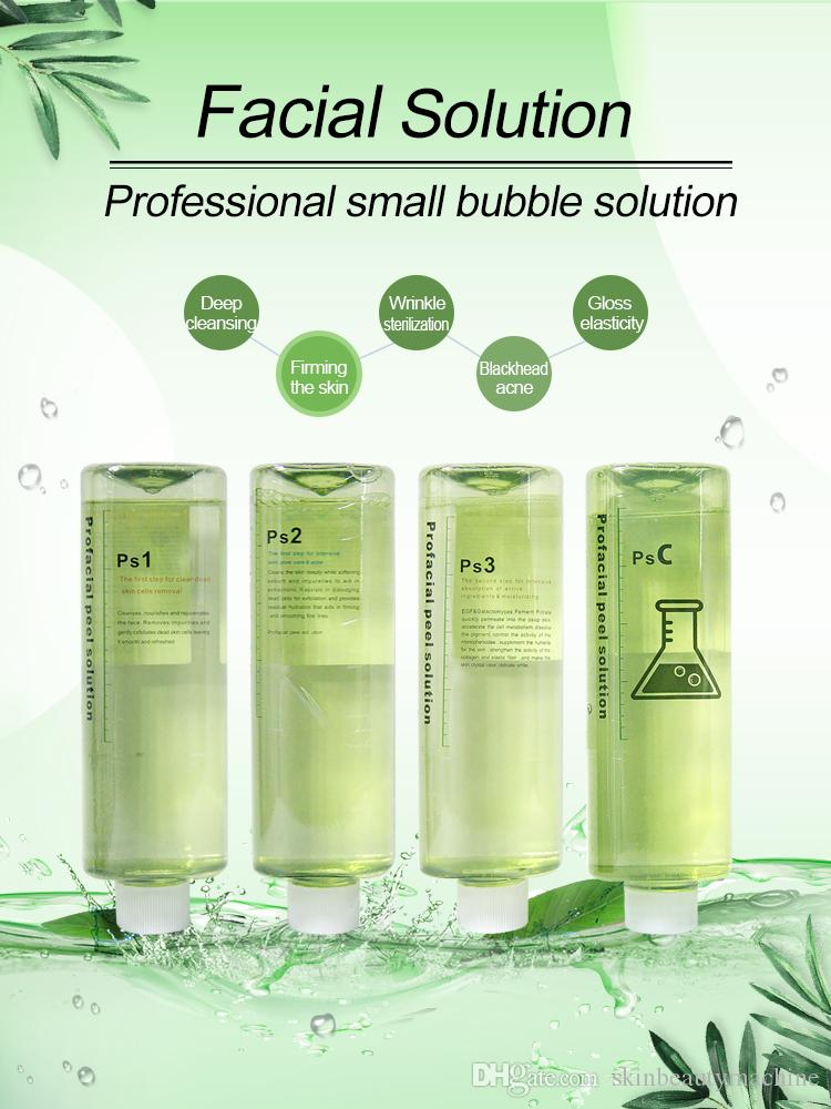Wholesale Micro dermabrasion peeling solution 4 bottles 500ml per bottle skin care liquid spa use free shipping