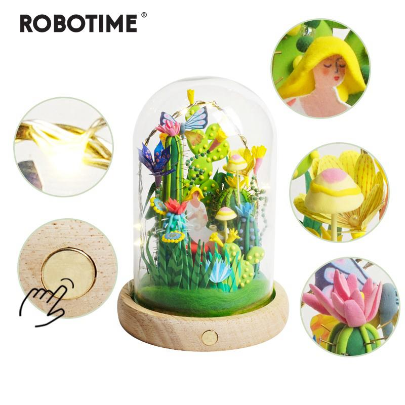 Robotime 4 Kinds Modeling Clay With LedGlass Box Colorful Polymer Creative Diy Creative Toy Gift for Children Adult DC Y200317
