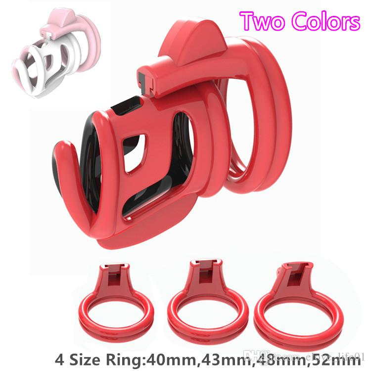 New 3D Design Dazzling Color Super Breathable Chastity Cage with 4 Size Penis Ring Adult Bondage Male Chastity Belt