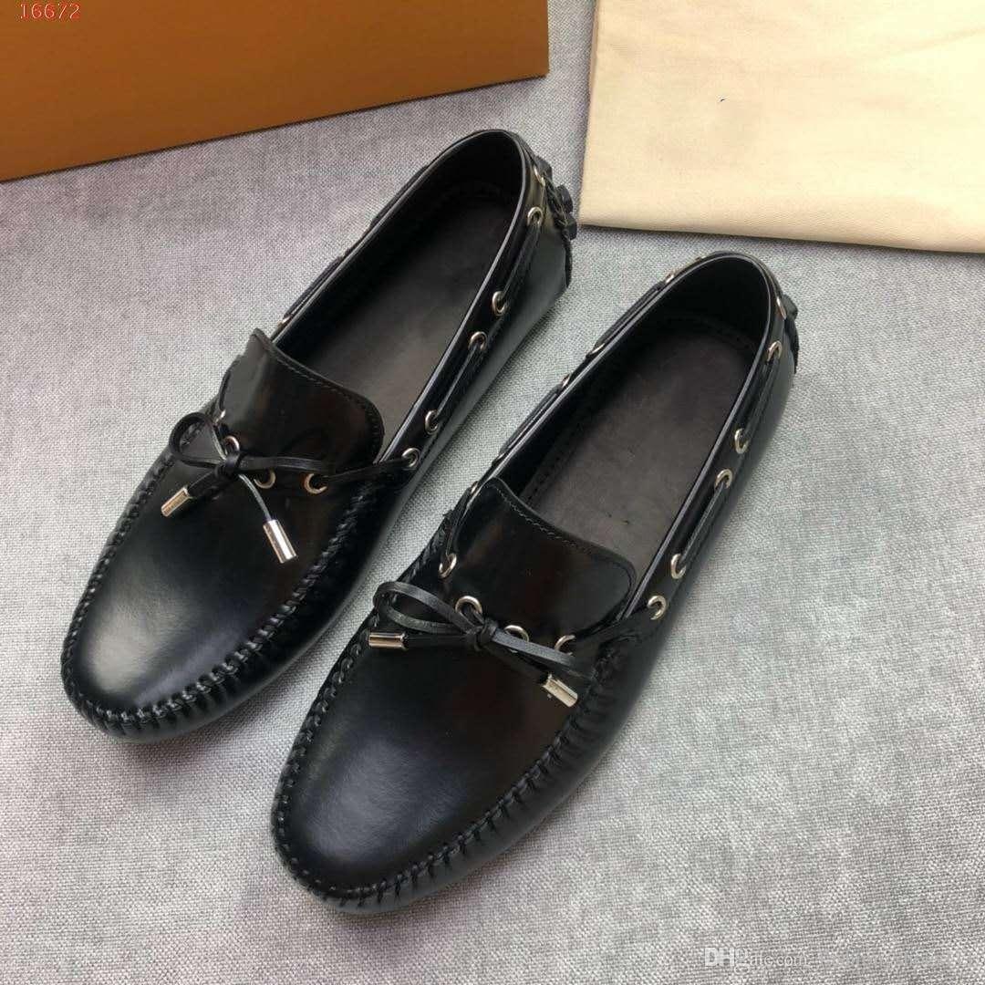 4ab56fd3673 {Caja original} Calidad original Nuevo estilo Hombres de cuero Calzado  popular buen precio mejor ...