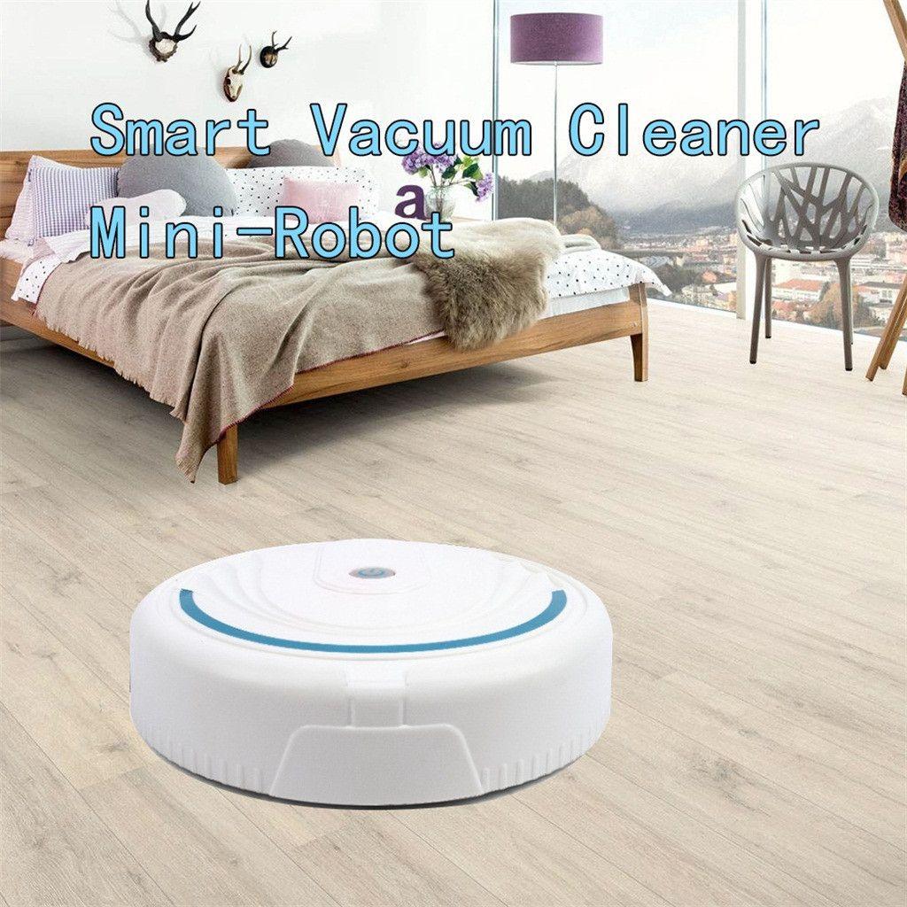 Robótico Aspiradora USB Electrodomésticos automático lleno de mini robot para el hogar con la aspiradora de carga Barredor de suelo de Planificación de polvo de lavado fregona