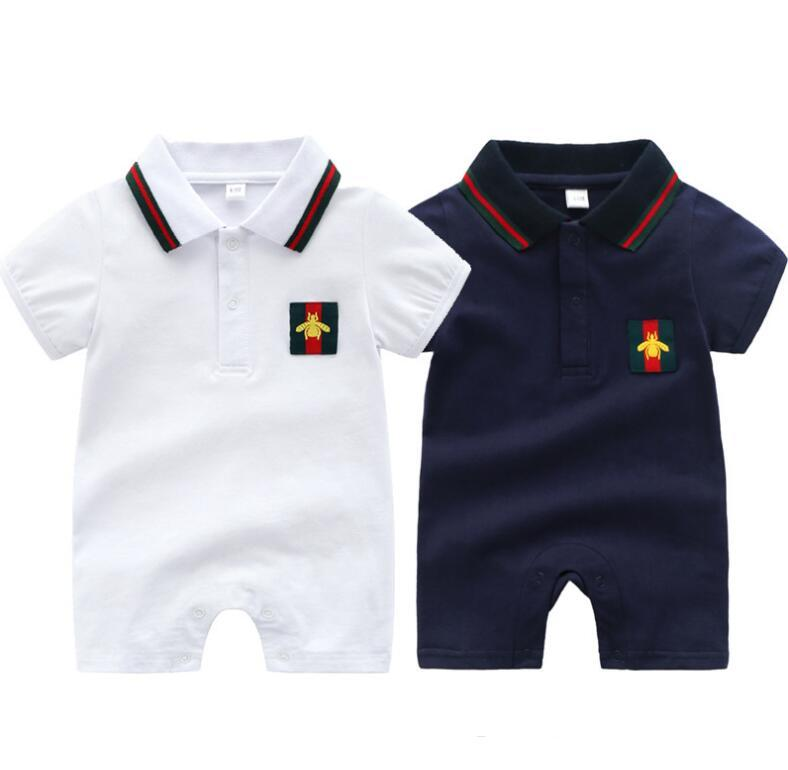 горячий мальчик комбинезон 2020 новорожденных девочек комбинезоны новорожденных одежда малышей мода Марка этикетки комбинезон бесплатная доставка