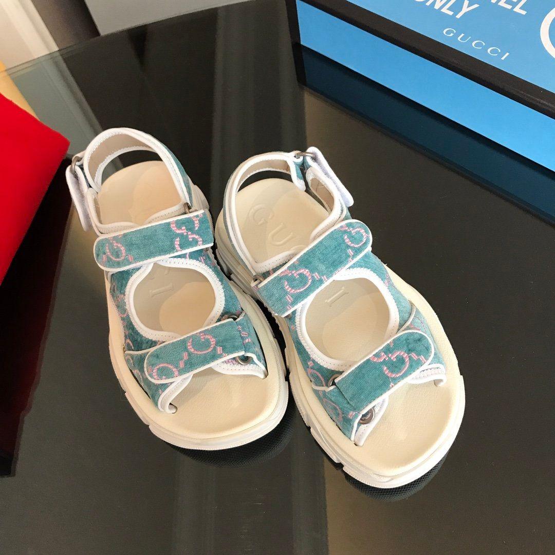 Magic Stick Calfskin Leather Platform Sandals Women Sandals Shoes Boutique size 35 to 40 tradingbear