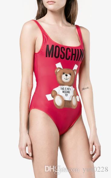 MOSC urso pequeno Designer de moda Swimwear Bikini Para Mulheres Carta Swimsuit Bandage Bi quinis sexy maiô S-XL