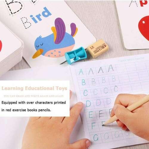 26 Letter English Flash Card Card Books Handwritten Learning Educational Toy