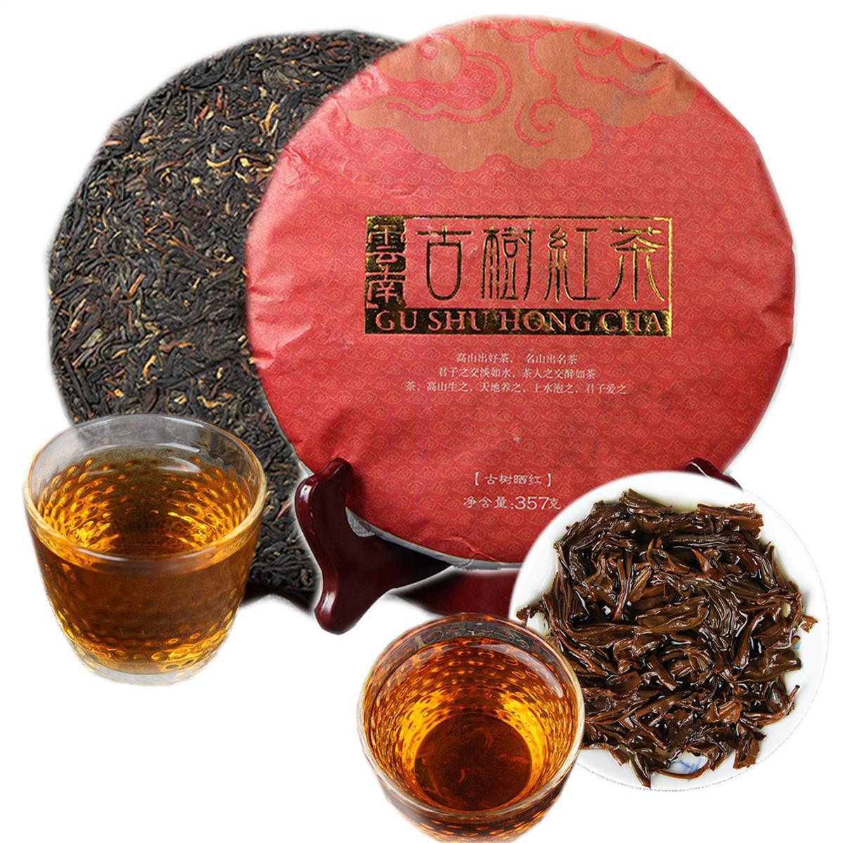 Promoção 357g Yunnan Árvore antiga Maduro Puer chá Bolo Organic Preto Natural Pu'er árvore velha chá cozido Puer chá