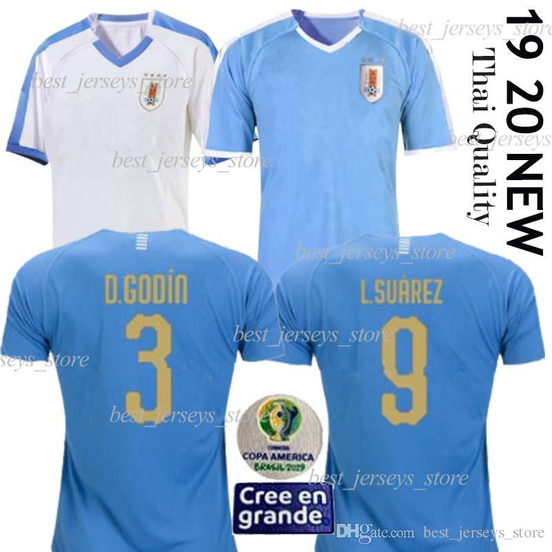 2019 Copa America Uruguay Soccer Jersey 2020 Home L.suarez E.cavani Soccer Shirt D.GODIN Away National Team Football