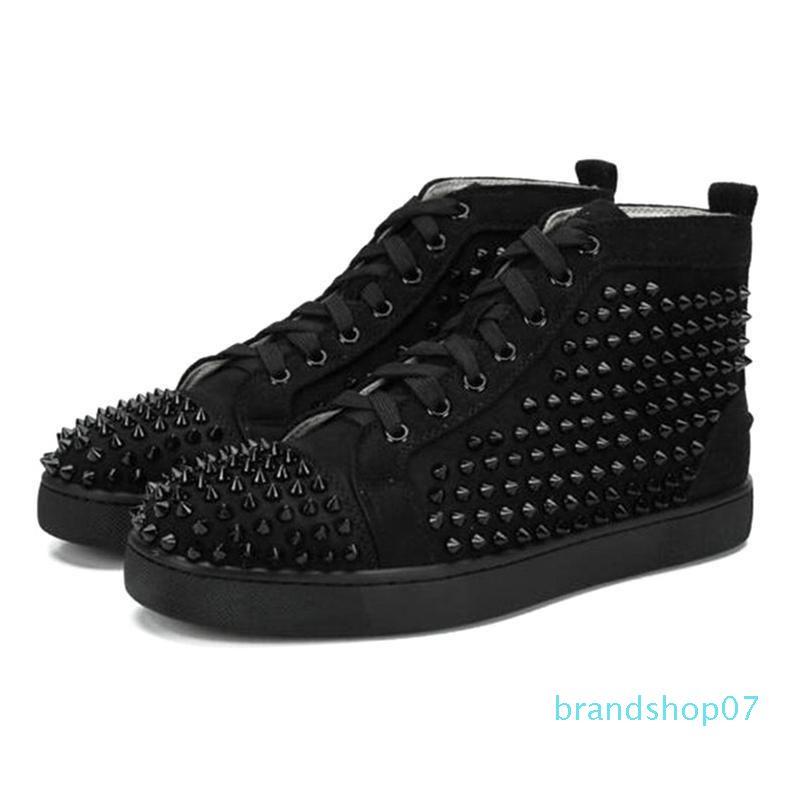 2020 hommes femmes concepteur chaussures pointes de luxe espadrille rouge triple taille de chaussures appartements des hommes de mode en cuir en daim noir blanc 36-47 lll