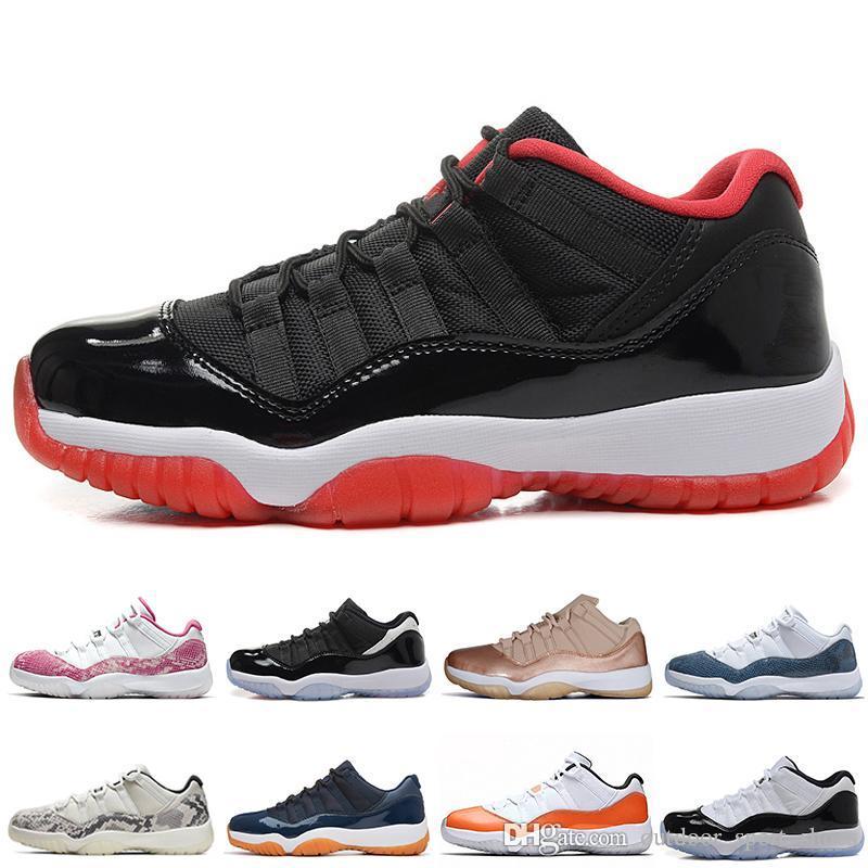 2019 nuevos 11 Gum azules marinos de piel de serpiente de color rosa zapatos de baloncesto de los hombres bajo Bred Concord Georgetown Space Jam 11s para hombre de las zapatillas de deporte de diseño de las mujeres Deportes