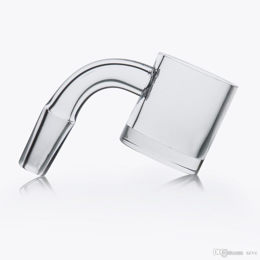 Vendita calda corto collo domeless quarzo banger 4 mm di spessore 10 millimetri 14 millimetri chiara congiunta di 45 ° 90 ° quarzo Banger Dab Nail per DAB rig
