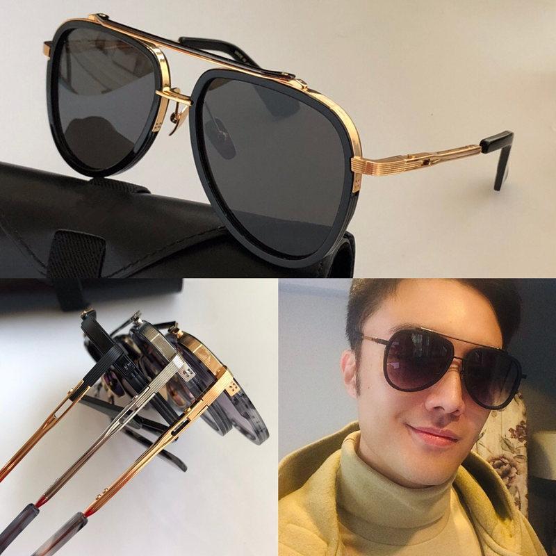 جديد MACH TWELV النظارات الشمسية الرجال TOP مصمم خمر معدنية الأزياء نمط الإطار البيضاوي حماية الهواء الطلق الأشعة فوق البنفسجية 400 عدسة النظارات مع حالة تم بيعها من قبل