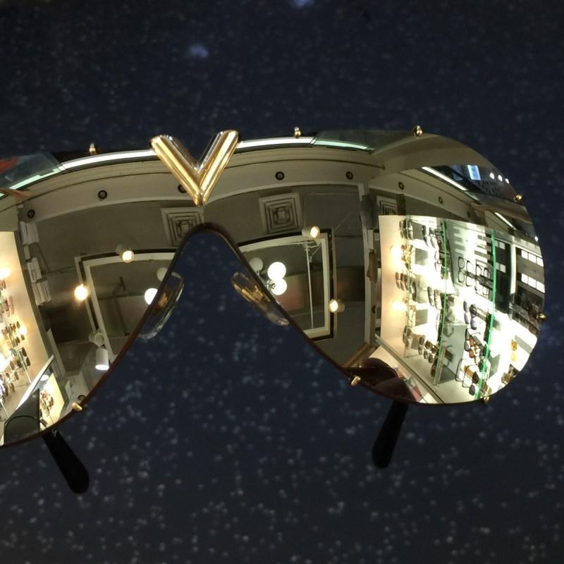 Оптовая торговля-Мужчины Женщины солнцезащитные очки УФ - Защита объектива 0896 мода овальное покрытие зеркало объектив безрамный цвет покрытием рамы поставляются с пакетом