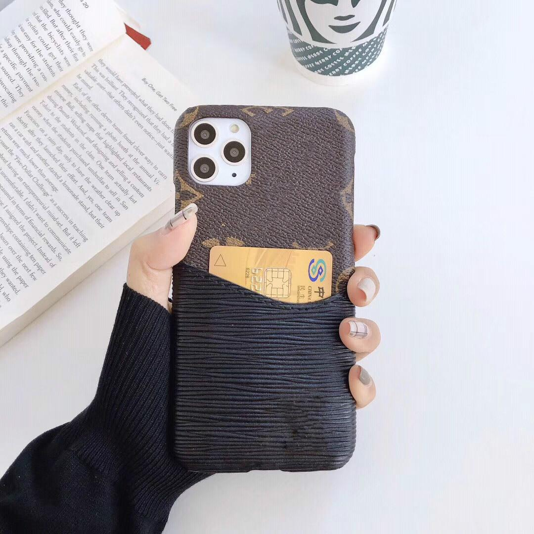 Designer phone Cases For Samsung S20 plus case Brand Back cover slot card case Luxury phone cover For Huawei P20 P30PRO P20PRO MATE30 Case