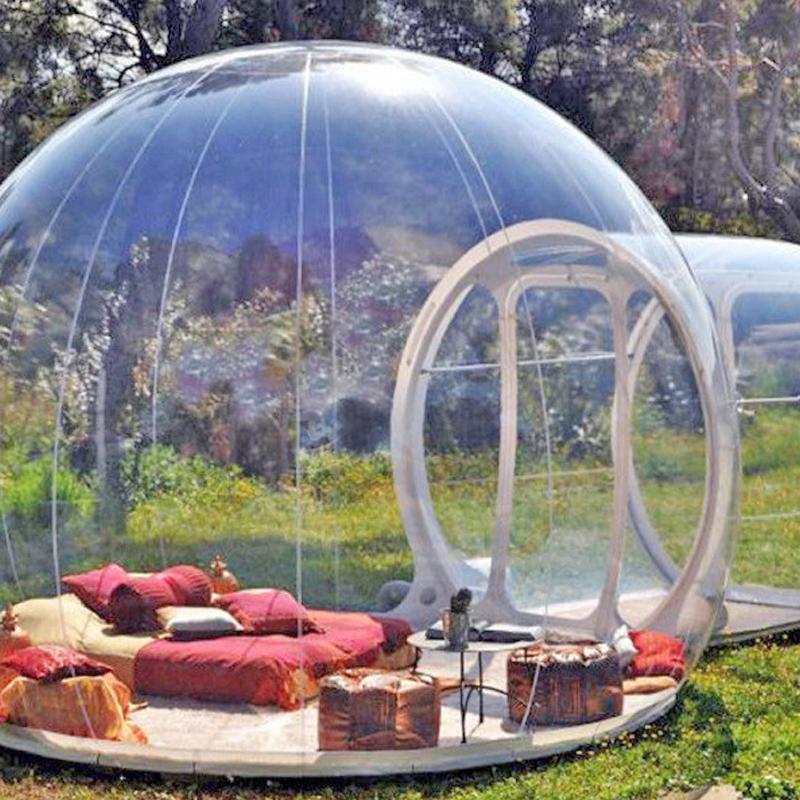 Şişme balon ağaç çadır, şişme gösterisi ev Famaily Backyard Kamp Çadırları, 0.45mm pvc carpas de kamp 4 personas oda